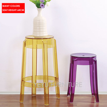 Modern Design Transparent Clear bar stool Counter Stool Cafe Loft Living Room Plastic stool Seat  sc 1 st  AliExpress.com & Popular Clear Plastic Stool-Buy Cheap Clear Plastic Stool lots ... islam-shia.org