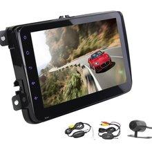 "VW 4.4 OS Quad-Core Car Stereo No DVD Player 8"" 2 Din Car Radio Audio Video Player GPS Navi Auto Bluetooth WiFi Wireless Camera"