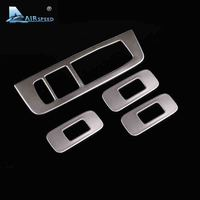 Airspeed Stainless Steel Window Lifter Control Frame Window Switch Decor Armrest Panel Refit Sticker For Volvo