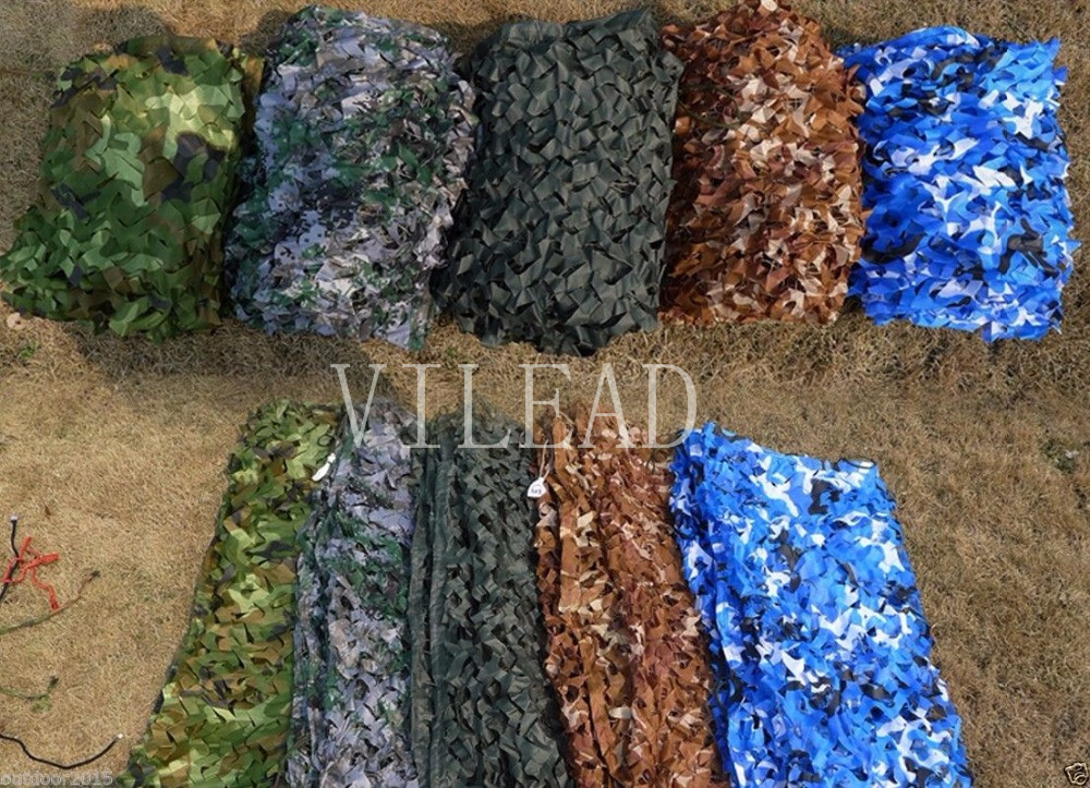 VILEAD 9 Colors 2.5M*9M Forest Camouflage netting Underbrush Camo Net  3d Camouflage net for anti fire shade Military Training vilead 9 colors  4m 5m camouflage