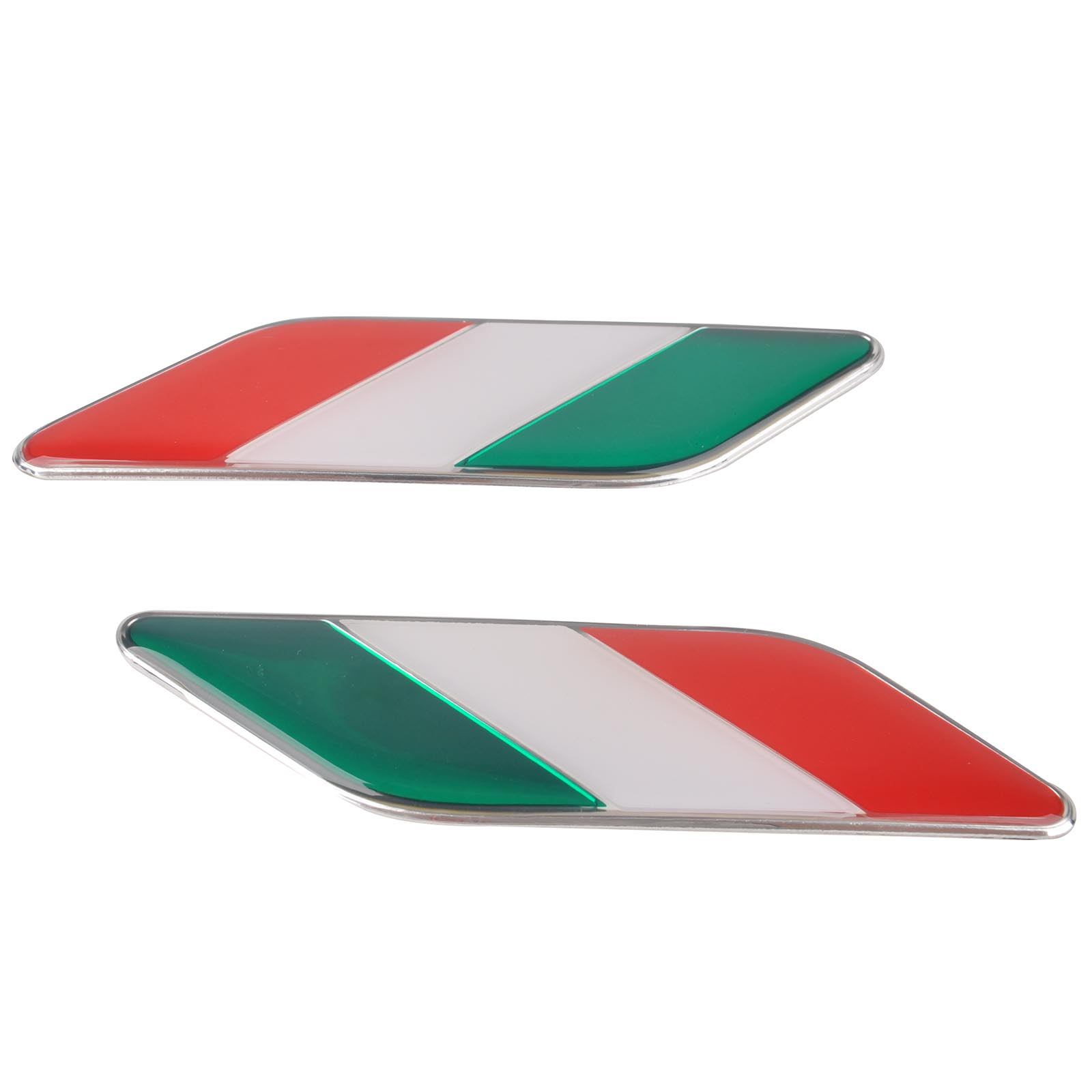 Mayitr 1 Pair 3D Car Italy Flag Stickers Badge Emblems Decal Sticker Decor For BMW Volkswagen VW Ford Focus Audi Toyota Mazda