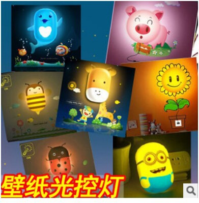 5 pieces Despicable Me Minions Toy animals LED NightLight 220V 2W 3D Wall Sticker Lamp DIY Light Wallpaper Night Lights fvip wholesale wallet ghost busters minions despicable me doctor who rolling stone inside out nintendo wallets