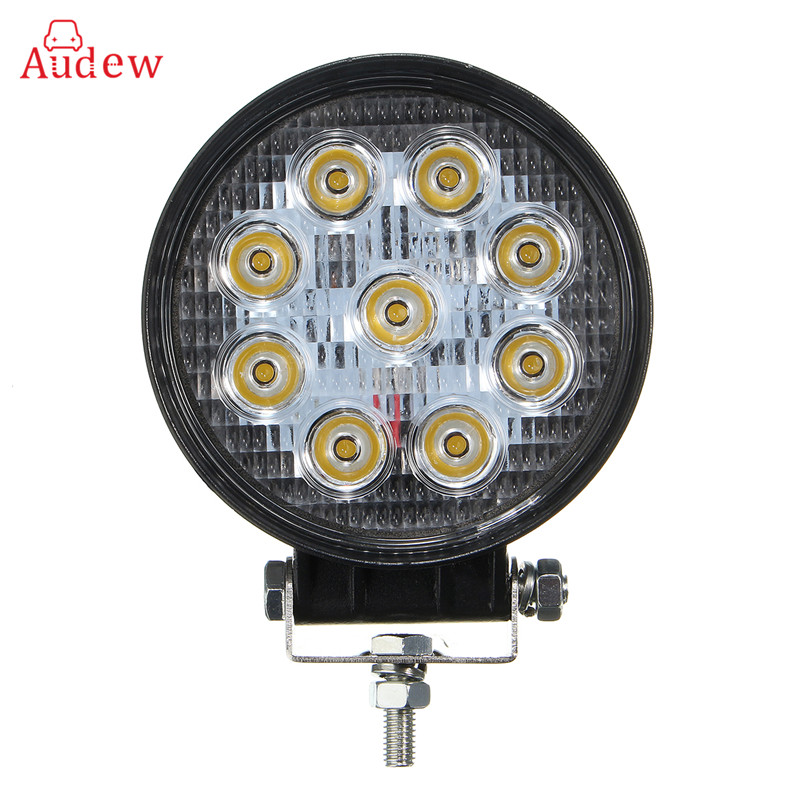 4 Inch 27W LED Work Light For Indicators Motorcycle Driving Offroad Boat Car Tractor Truck 4x4 SUV ATV Flood/Spot Beam 12V-24V 18w led work light date running lights driving led bar offroad for indicators motorcycle boat car tractor truck 4x4 suv atv jeep