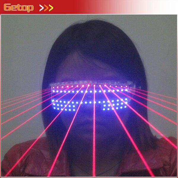 Новое поступление вечерние поставки красной лазерной синий светодиодный свет очки для горячей Танцевальная вечеринка украшения 532nm 80 МВт с