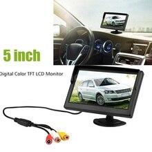 Автомобиль Монитор 5 Дюймов TFT ЖК-Экран Автоматическая Система Парковки дисплей Заднего вида Монитор Поддержка VCD DVD GPS Камера с 2 Видео входы