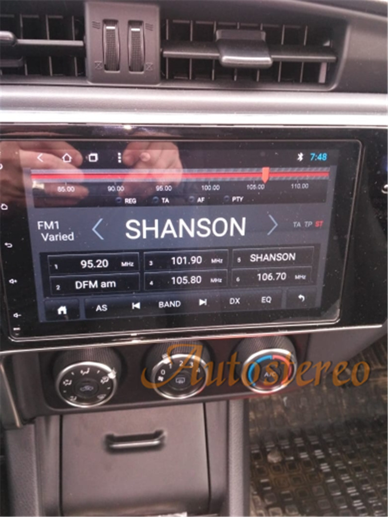 Sale Android 8.0 Car No DVD Player GPS navigation For Toyota Corolla/Fortuner 2016+ Stereo Head unit Multimedia radio tape recorder 6
