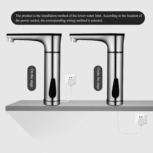 Image 5 - سخان مياه كهربائي للمطبخ بقدرة 220 فولت سخان مياه بدون خزان صنبور تسخين الماء الساخن مع مفتاح عرض لدرجة الحرارة يعمل باللمس