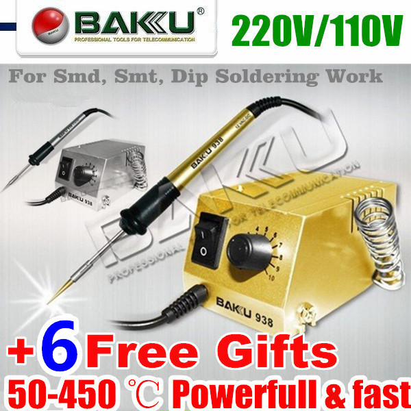 Soldering Station with 6 Gifts,220V/110V. BAKU BK-938.