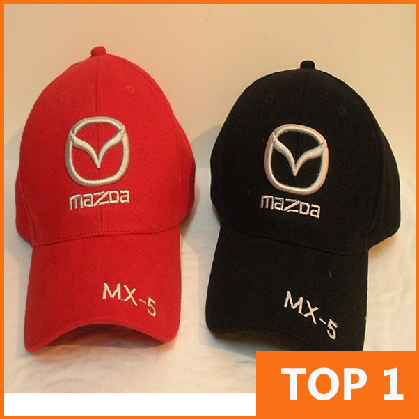 mazda baseball hats 3 cap mx 5 new wholesale profession racing leisure hat car black