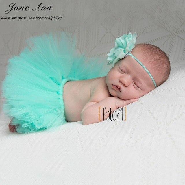 Jane z ann newborn photography props baby studio photoshoot girls floral headband tutu skirt atrezo