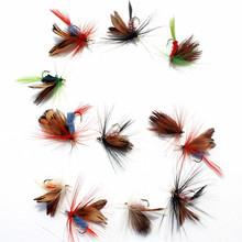 KKWEZVA 36pcs Lure Fly fishing Hooks Butterfly Insects Style Salmon Flies Trout Single Dry Fly Fishing Lure Fishing Tackle