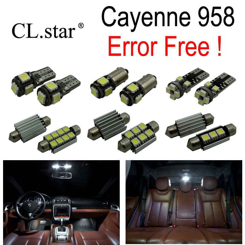 19pc X Nice Canbus Error free For Porsche Cayenne 958 LED Interior dome map reading Light lamp Kit Package (2011+) 18pc canbus error free reading led bulb interior dome light kit package for audi a7 s7 rs7 sportback 2012