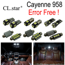 19pc X Nice Canbus Error free For Porsche Cayenne 958 LED Interior dome map reading Light lamp Kit Package (2011+)