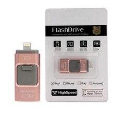Для iPhone 6 6 S плюс 5 5S Ipad ручка привода HD Memory Stick двойного назначения мобильного OTG Micro USB flash Drive 8 ГБ 16 ГБ 32 ГБ 64 ГБ