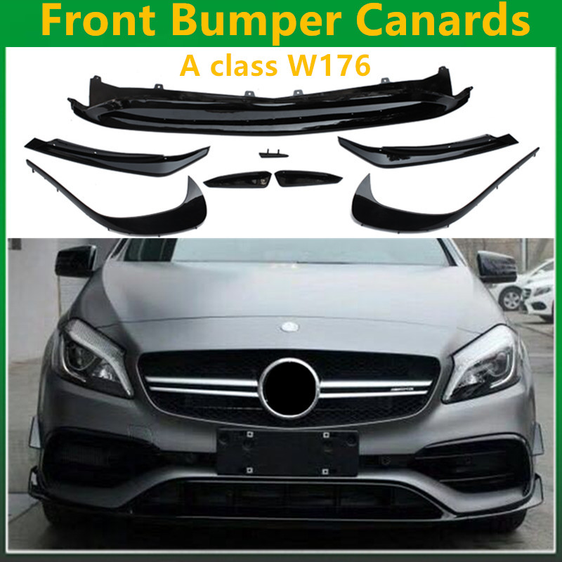 Buy ABS Front Bumper Lip Splitter Canards 8 Piece for