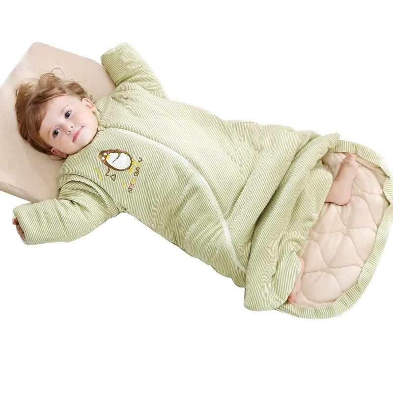 Bébé courtepointes sac de couchage pour poussette couverture hiver infantile sac de couchage nouveau-né sacs de nuit chaud mousseline coton bébé sommeil nid