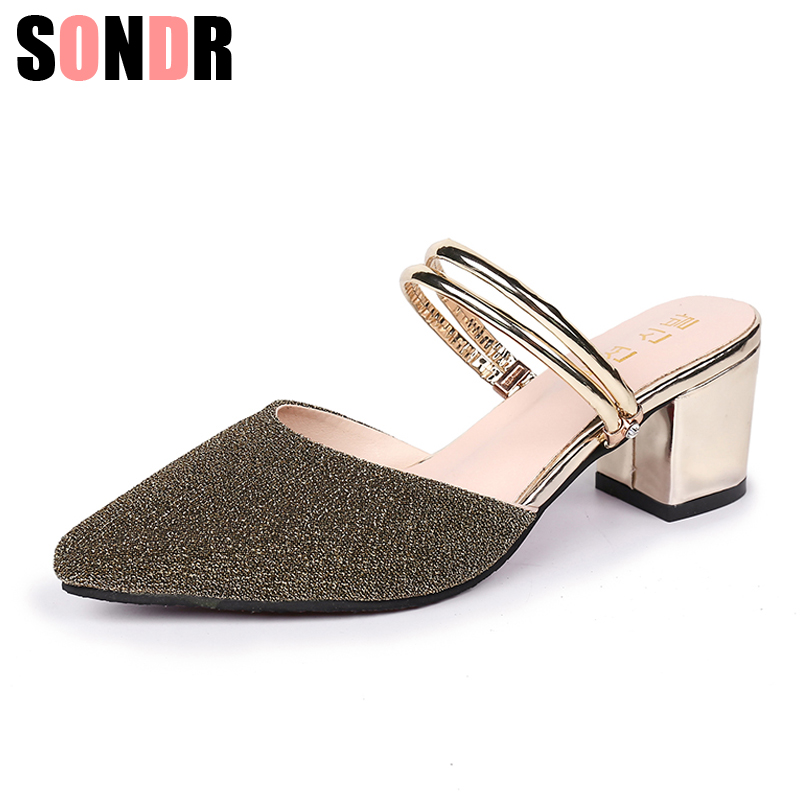 Women Sandals pu Square Heels Peep Toe Buckle Strap High Quality Womens Fashion Summer Shoes size 35-44Women Sandals pu Square Heels Peep Toe Buckle Strap High Quality Womens Fashion Summer Shoes size 35-44