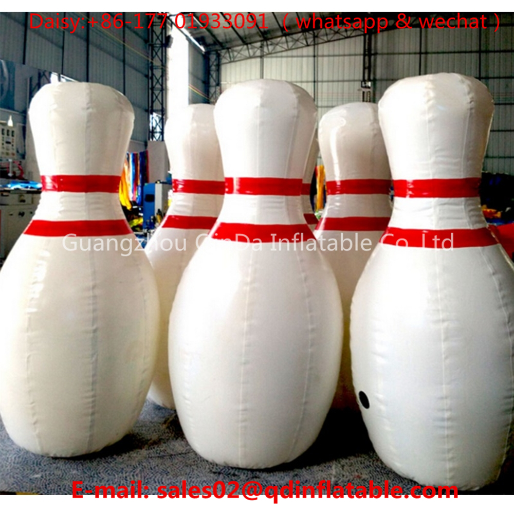 6 Pieces 2m Inflatable Bowling Bottles +1 piece 1.5m Zorb Bubbles Soccer, Inflatable Bowling Ball Game,Human Zorb Bowling Game free shipping 2 5m pvc inflatable zorb ball for bowling outdoor human bowling sport inflatable body zorb ball