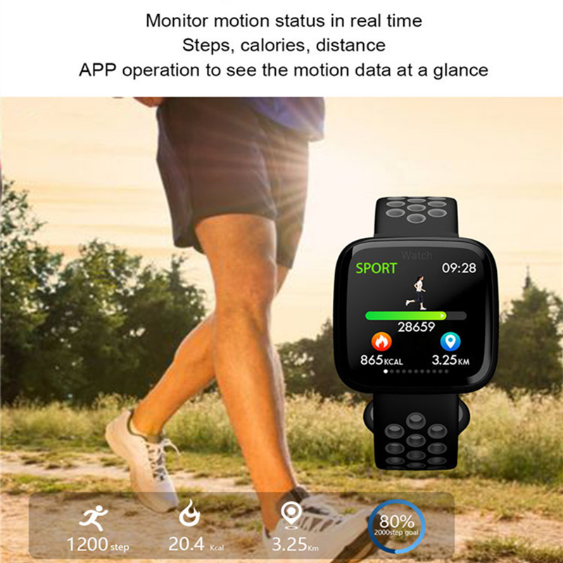 Image 5 - ONEVAN 1.3 inch Smart Watch Heart Rate Blood Pressure Blood Oxygen Monitor Fitness Bracelet Waterproof Wristband for Ios Android-in Smart Wristbands from Consumer Electronics