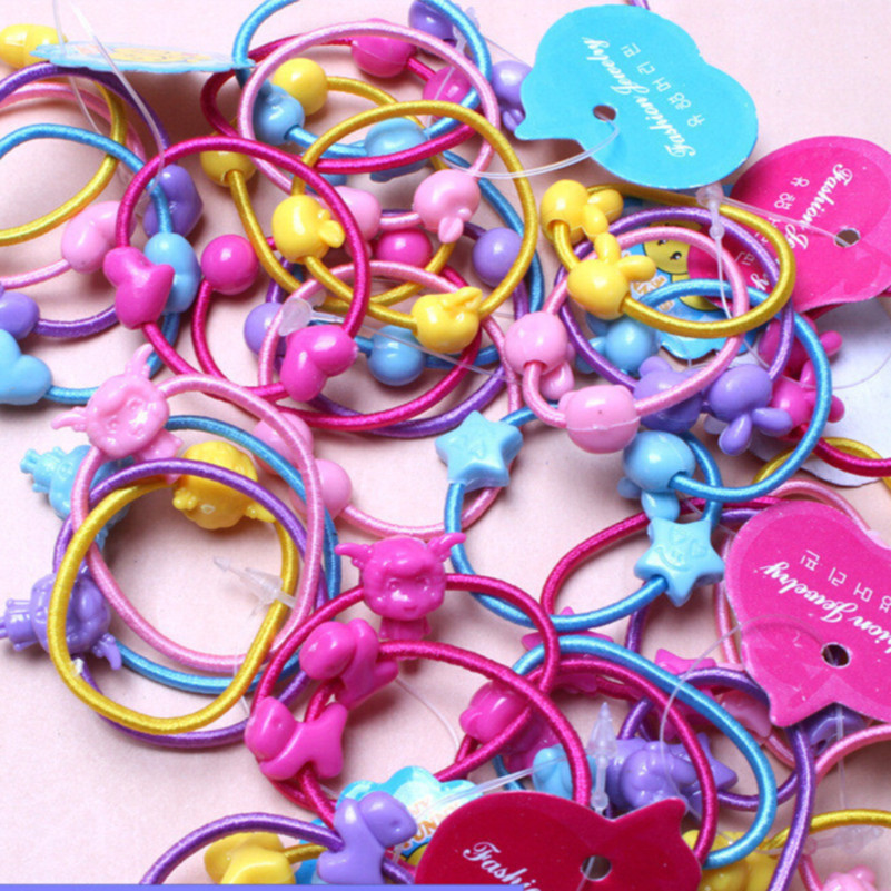 5pcs/lot New Arrive Hair Accessories cartoon Hair rope Elastic Hair Rubber Band girl   headwear   11 Style