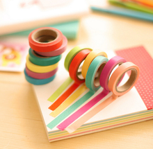 ФОТО 1 pcs korean decorative  candy color adhesive tape scrapbooking tools stickers paper diary  diy office stationery