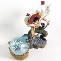 One Piece Edward Newgate Naginata Rasetsu Ver. Whitebeard Statue PVC Figure Collectible Model Toy