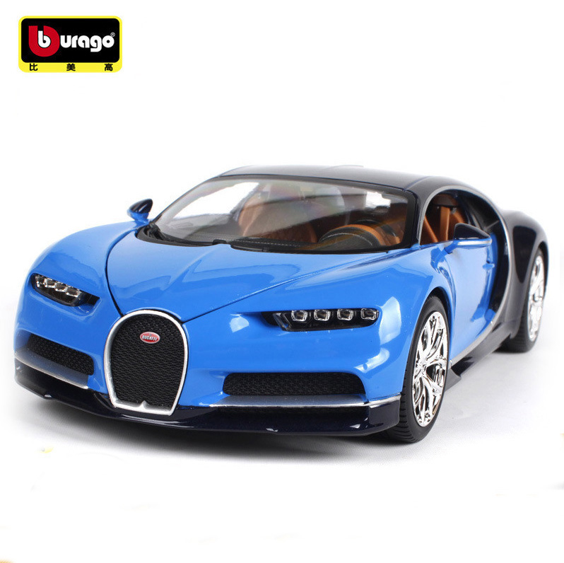 maisto bburago 1 18 bugatti chiron metal diecast alloy car model toy for kids christmas gifts. Black Bedroom Furniture Sets. Home Design Ideas