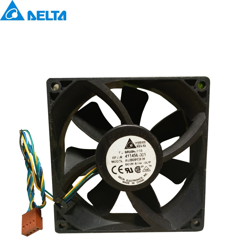 Delta AUB0912HH 9225 92mm 90mm 411456-001 DC12V 0.40A Server cooler PWM Cooling Fan delta 12038 12v cooling fan afb1212ehe afb1212he afb1212hhe afb1212le afb1212she afb1212vhe afb1212me
