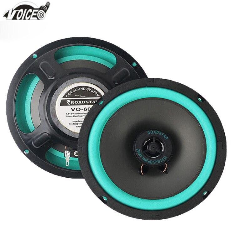 6 Inch Car Speaker Paired Automobile Automotive Auto Coaxial Loudspeaker 100W 4ohm 16 cm Audio Acoustics Sound Speakers for Car