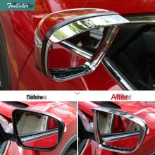 Tonlinker Cover case Sticker for NISSAN X-TRAIL 2014-17 Car styling 2 PCS ABS Chrome Reversing rearview mirror cover sticker