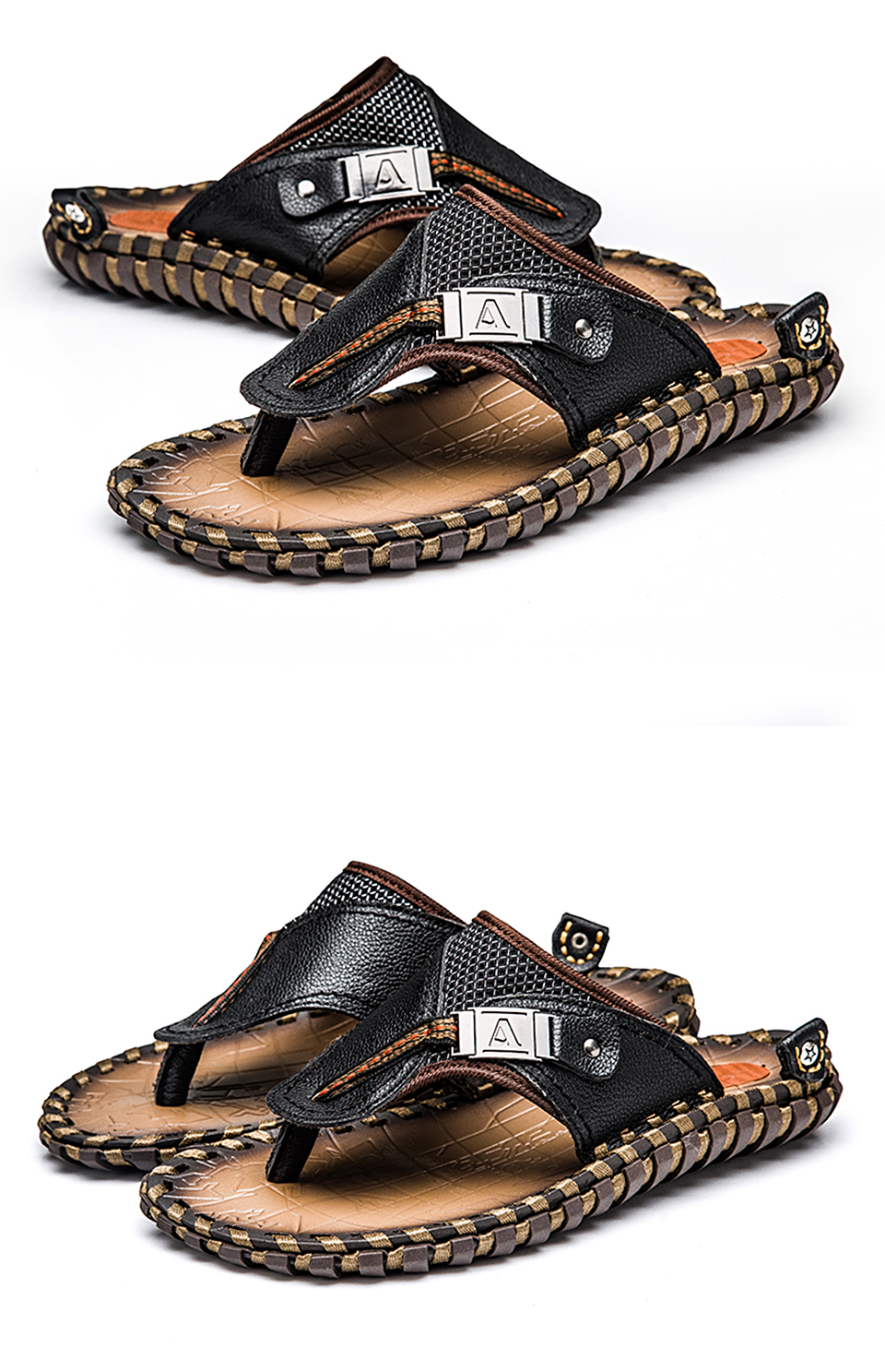 HTB1JaI8LQvoK1RjSZPfq6xPKFXab - VRYHEID Brand Men's Flip Flops Genuine Leather Luxury Slippers Beach Casual Sandals Summer for Men Fashion Shoes New Big Size 48