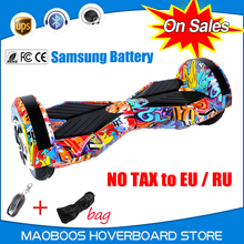 Led light 8 inch samsung battery Portable Drift Hoverboard UL2272 electrico gyroscope unicycle patent balance scooter