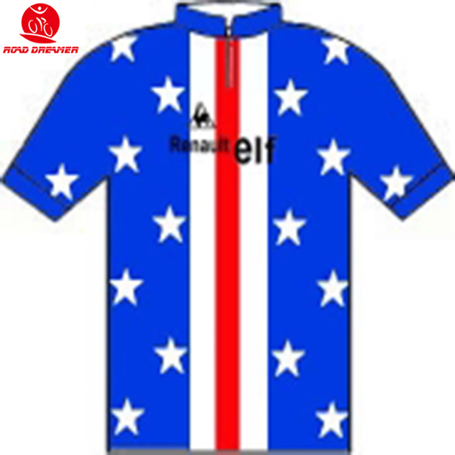535737d0a Tour de France 1981 Les maillots de champions Jonathan Boyer (Usa) Team  Retro blue cycling jersey summer Short sleeved clothes