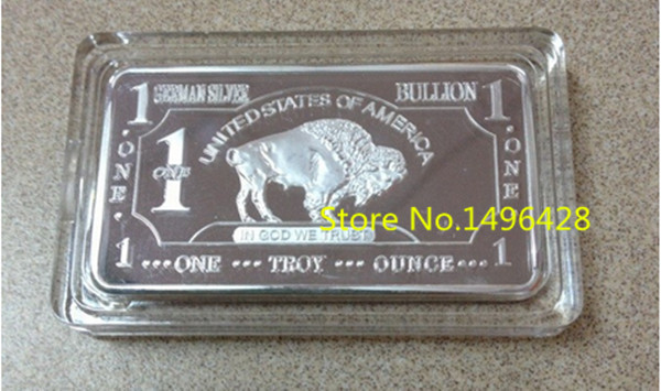 German Mint Non Magnetic 5pcs 1 Troy Ounce Buffalo German