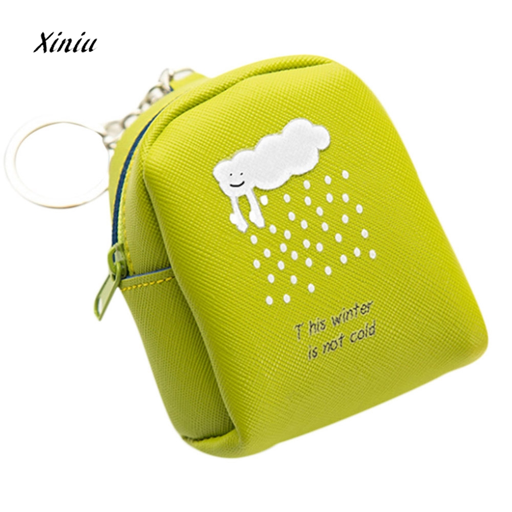 Women Girls Cute Cartoon Print Fashion Snacks Coin Purse Wallet Bag Portable Zipper Small Change Pouch Key Holder Bags