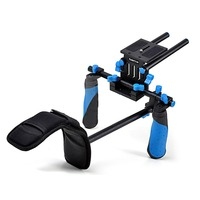 2015 Koolertron DSLR VCR Rig Movie Kit Shoulder Mount And Padded HandgripFor DSLR Camera DV HDV