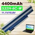 4400mAh white  battery for Acer Aspire one 532h UM09G31 UM09G41 UM09G51 UM09H31 UM09H36 UM09H41 UM09H56 UM09H70 UM09H73 UM09H75