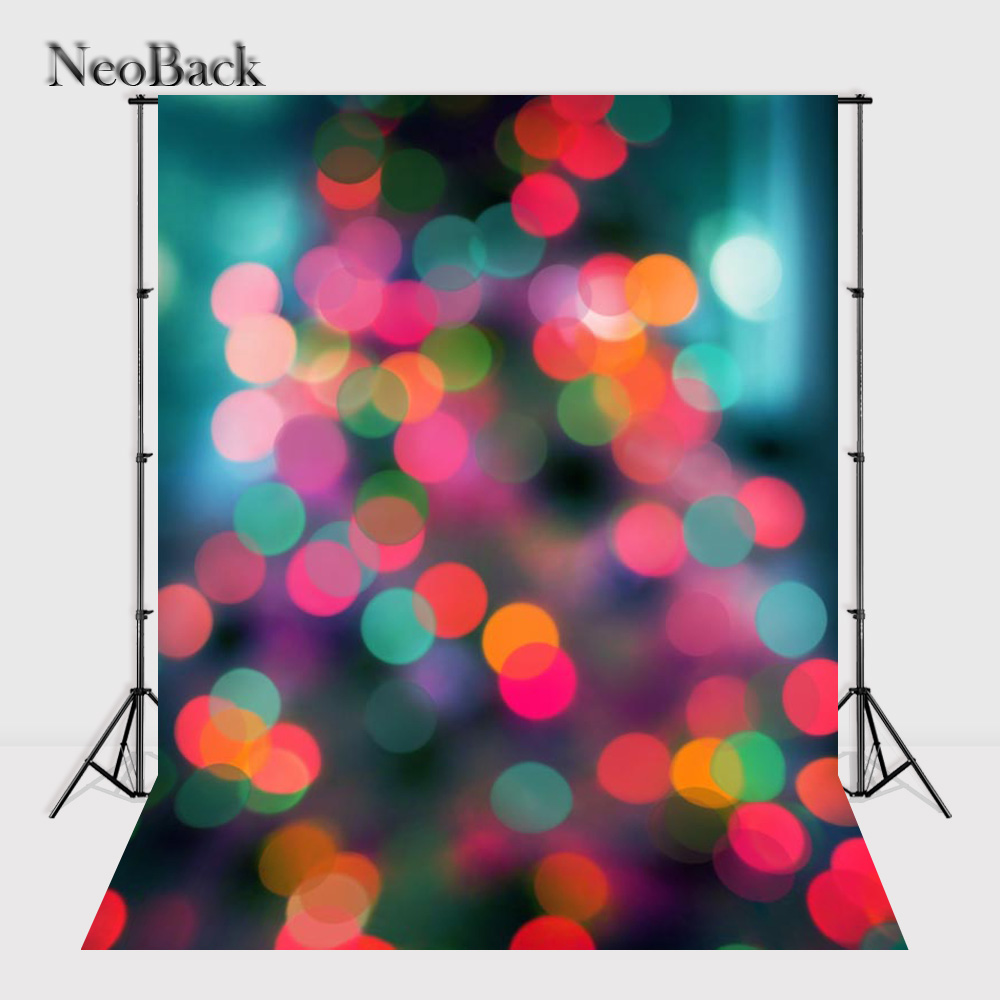 2017 NeoBack 5x7ft Vinyl Cloth Bokeh dots  Photo backgrounds New Born Baby Children Kids Photo backdrops B0932