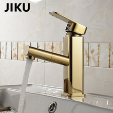 JIKU Basin Faucet Tap Bathroom Faucet Handle Hollow Brass Vessel Sink Water Mixer Finish Chrome Modern Waterfall Faucets modern simple waterfall kitchen faucet square dual handle stainless steel basin faucets 360 swivel chrome mixer sink tap 88307b