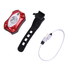 USB Rechargeable Rear Tail Bike Light Lamp Taillight Raypal Rain Waterproof Bright LED Safety Cycling Bicycle Light