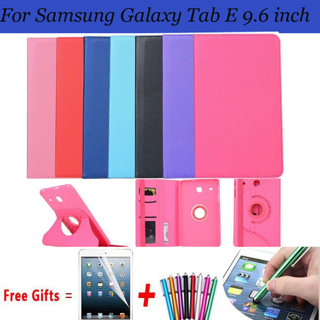 2in1 Расщепляется Pu Обложка для Samsung Galaxy Tab E 9.6 Случае 360 Вращающийся Чехол для Samsung Galaxy tab E 9.6 Крышка T560 T561