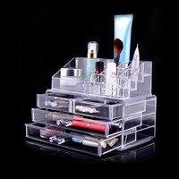 Box Make Up Clear Jewelry Organizer Cosmetics Case Transparent 3 Drawers Lipstick Box Storage Rangement Maquillage