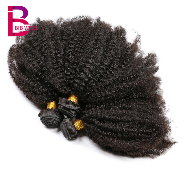 4b 4c Afro Kinky Curly Human Hair Extensions Brazilian Remy Hair 100