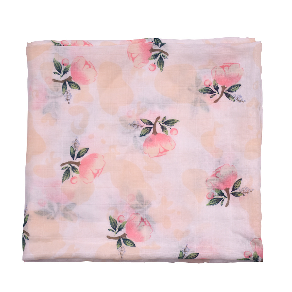 Multi Use Flamingo Baby Blankets Newborn Baby Blankets Muslin Swaddle Cotton Bamboo Baby Bath Towel Blankets Baby Wrap 120X120cm