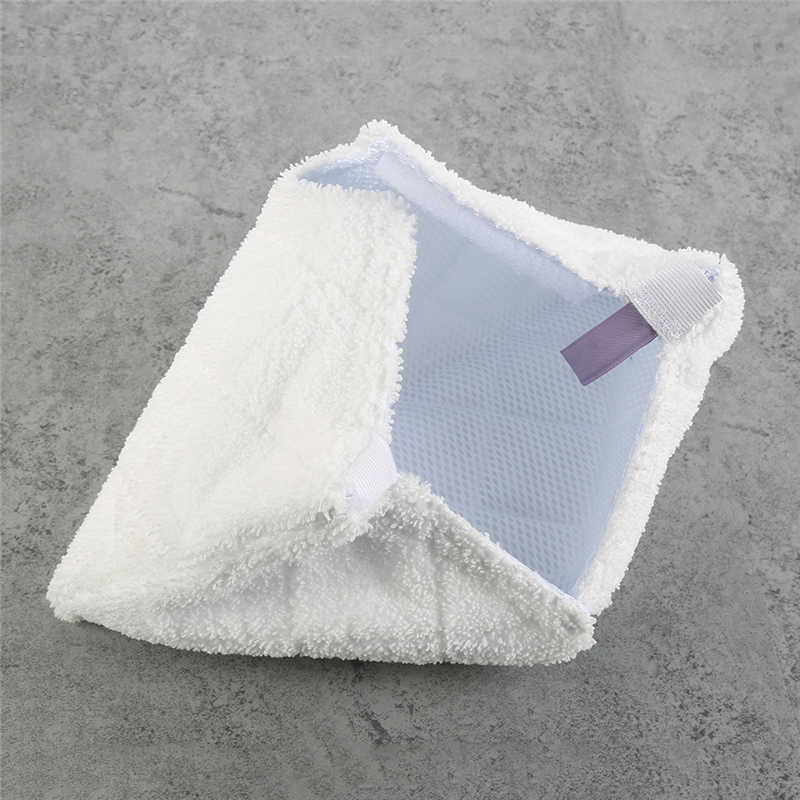2pcs Reusable Dust Mop Household Cleaning Head Pad For Shark Pocket Steam S3550 S3501 S3601 S3901 Mop Replacement Cloth White