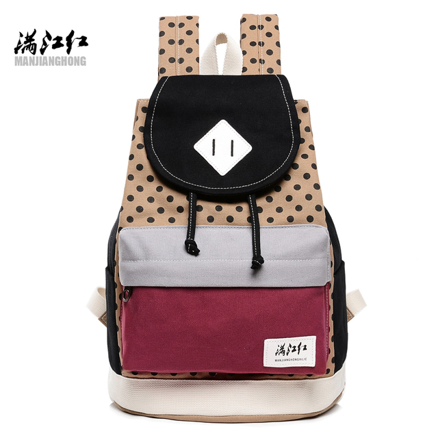 New Fresh Korean Teenager Girl School Backpacks High Quality Canvas Women Casual Shoulder Bags Preppy Style College Rucksack Bag