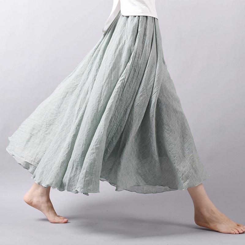 Ny mode kvinder Boho Vintage plisseret Maxi nederdel 2018 - Dametøj - Foto 4