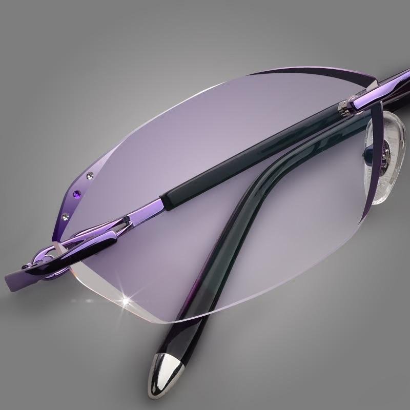 Gradienten Diamant Mit Presbyopie Weibliche Gläser Trimmen 18 Ultraleicht Koreanische Rahmen Brille Flut Randlose qgadSdw0X