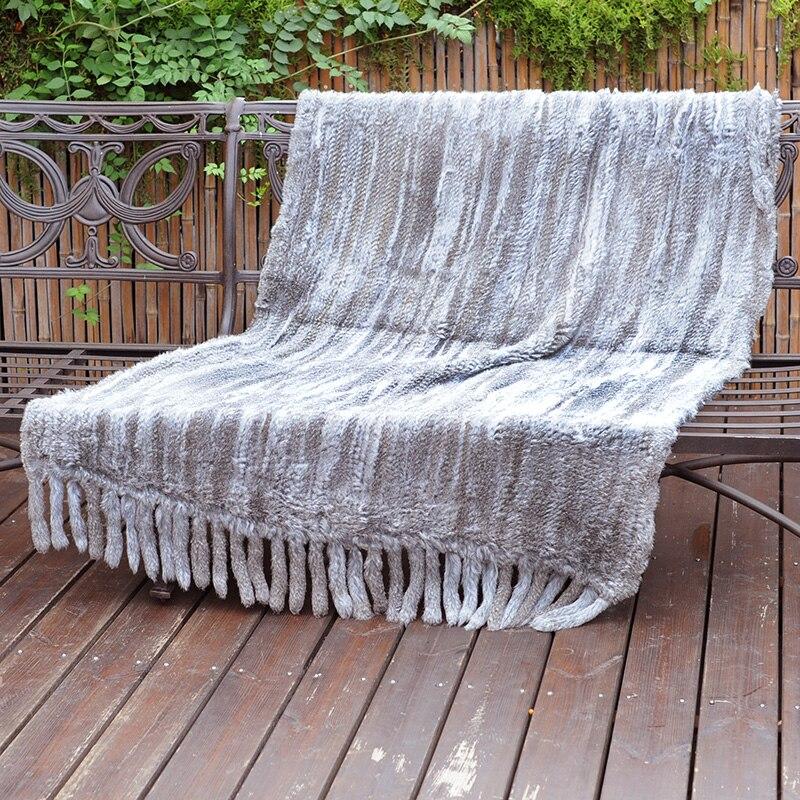 CX D 20G sofá decorativo para el hogar, manta de piel de conejo caliente