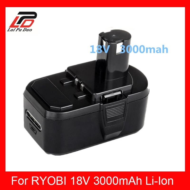 3000 mah pour RYOBI P104 batterie pour outil électrique RYOBI BPL-1815 BPL-1820G BPL 18151 BPL1820 P102 P103 P104, P105, P106, P107